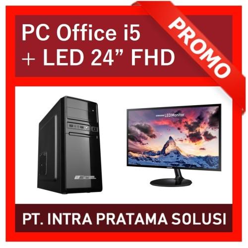 "Foto Produk PC Core i5 + RAM 8GB + HDD 500GB + NVidia GT730 + LED 24"" dari PT. Intra Pratama Solusi"