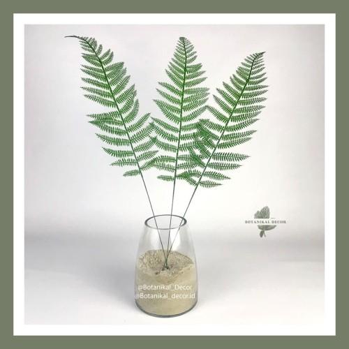 Foto Produk Artificial Fem Leaf Leaves Daun Buatan Plastik Hijau Dekor dari Botanikal_Decor.id