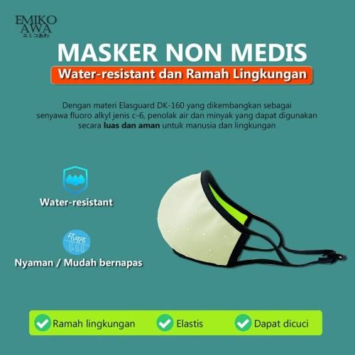 Foto Produk Masker Kain - Emikoawa Nonmedis Water Resistant bukan Sensi / N95 dari emikoawa