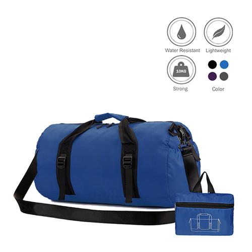 Foto Produk duffel bag / tas gym / travel waterproof / anti air bisa di lipat - Biru dari elfs shop manfashion