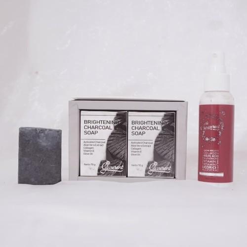 Foto Produk Paket Pemutih Badan Dan Perontok Daki Ampuh Gluserent Skin Purifying dari DELASHA STORE
