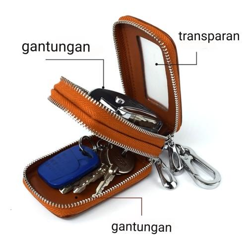 Foto Produk Dompet STNK kulit asli mobil motor -Double Zipper STNK - Cokelat dari yeakh