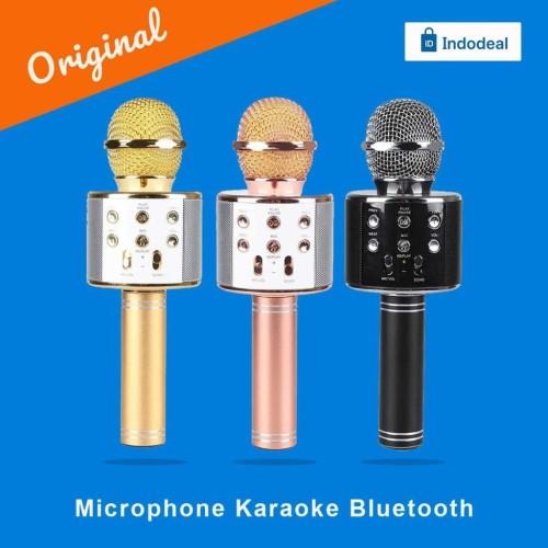 Foto Produk Microphone Karaoke Bluetooth MIC WS858 - ORIGINAL dari Indodeal