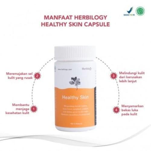 Foto Produk Herbilogy - Healthy Skin Capsule 550mg - Suplement Kesehatan Kulit dari Jagapati