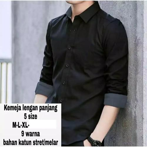 Foto Produk BAJU KEMEJA KEREN SIMPLE LENGAN PANJANG PRIA 2 WARNA dari azam shopp