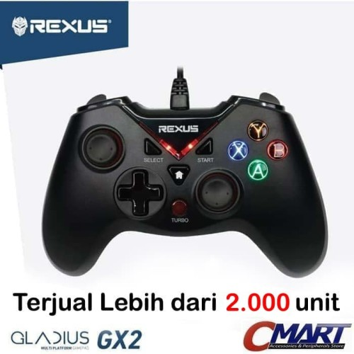 Foto Produk Rexus Gladius GX2 Pro Stick Gaming Gamepad Controler USB PC Joystick dari CMart Computer