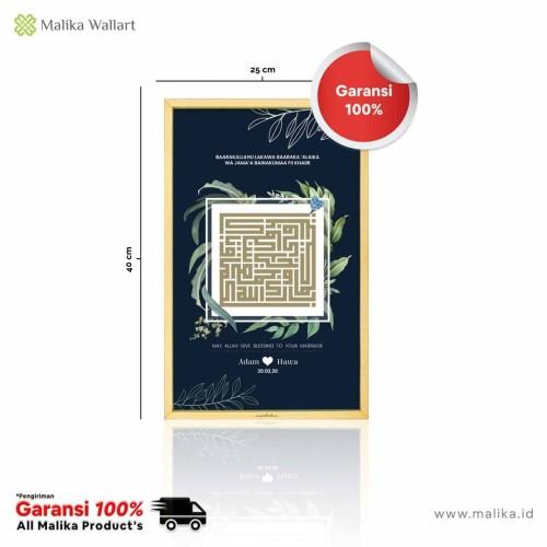 Foto Produk Hiasan Dinding Kado Unik Kaligrafi Barakallah - Custom dari malikawallart