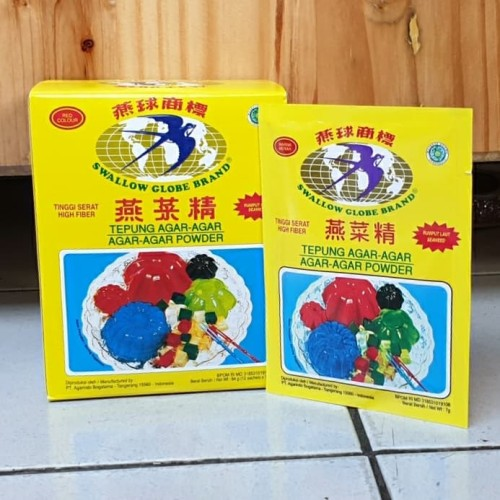 Foto Produk [1box isi 12sachet] Agar Swallow Globe MERAH 7gr Asli dari Aimee Bag & Plush Toys