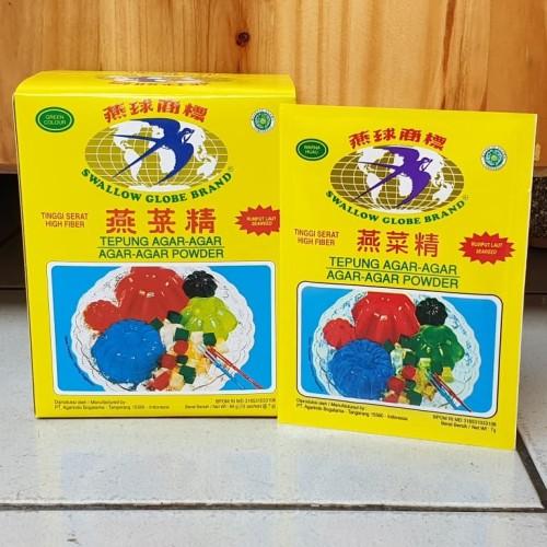 Foto Produk [1box isi 12sachet] Agar - Agar Swallow Globe 7gr HIJAU dari Aimee Bag & Plush Toys
