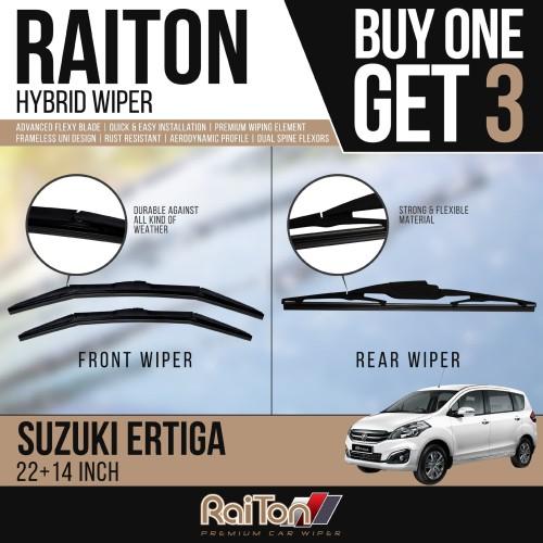 Foto Produk Raiton Wiper Hybrid BUY ONE GET 3 FOR Suzuki Ertiga dari Raiton