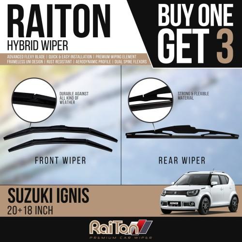 Foto Produk Raiton Wiper Hybrid BUY ONE GET 3 FOR Suzuki Ignis dari Raiton