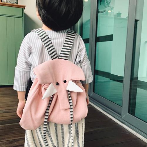 Foto Produk UCHII PINKU NO ZO Kids Wool Backpack School Bag Tas Ransel Serut Anak dari uchii store