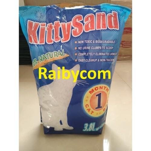 Foto Produk Pasir Kucing Kristal Silika 3.8 Liter Kitty Sand Silica 100% Natural dari Raibycom