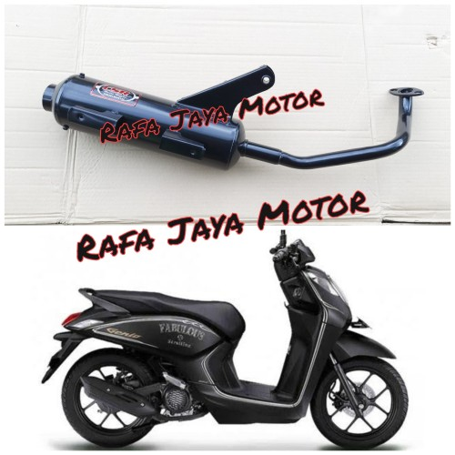Foto Produk Knalpot Racing Bobokan Honda Genio Model Standar Full Bass CSR Racing dari Rafa jaya motor