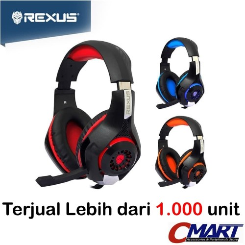 Foto Produk Headset Gaming Rexus F55 Vonix Headphone Head Set F 55 F-55 - Merah dari CMart Computer