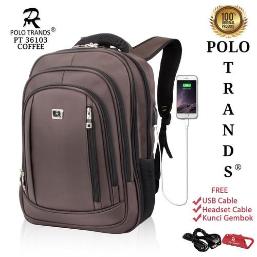 Foto Produk Polo Trands EXPANDABLE Edition Backpack 26L 36103 - Tas Ransel Laptop - Cokelat Tua dari Polo Trands Official