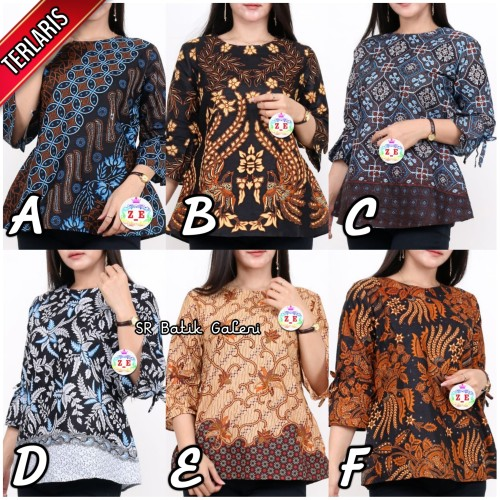 Foto Produk Baju batik wanita Blouse super Murah FLASHSALE - Batik atasan wanita - Pilih Code, M dari SR Batik Galeri