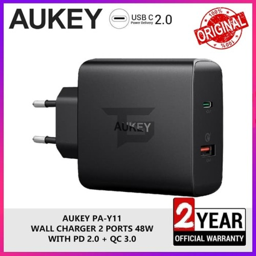 Foto Produk AUKEY PA-Y11 Charger Power Delivery PD Quick Charge 3.0 Fast Charging dari TopGear Superhero ID