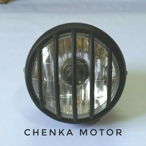 Foto Produk reflektor lampu depan cb 100.jeep grill.besi hitam. dari Chenka Jaya