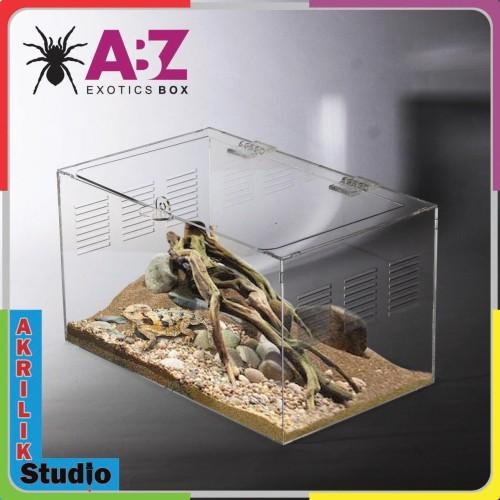 Foto Produk Box Akrilik, Kandang Hewan,Reptil PxLxT15x10x10 dari Akrilik Studio