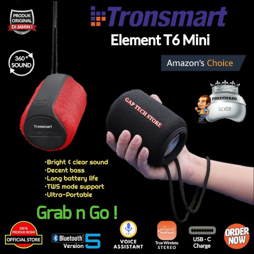Foto Produk Tronsmart Element T6 Mini / T 6 Mini Portable Bluetooth Speaker dari GAP TECH STORE