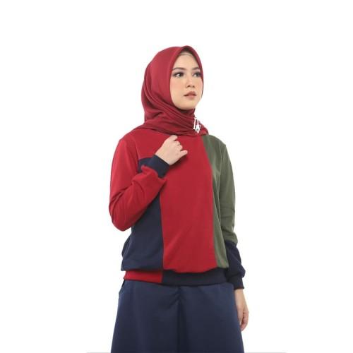 Foto Produk Sweatshirt Puzzle Red - M dari deenayofficialstore