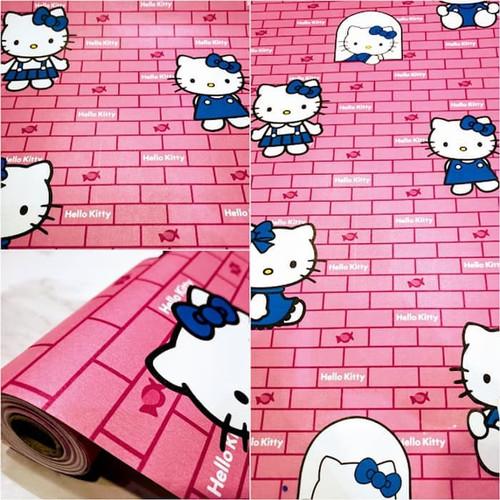 Foto Produk WALLPAPER DINDING STIKER MOTIF HELLO KITTY BATA - UKURAN 45CM X 10M - Kitty Bata Mera dari homewallpaperr