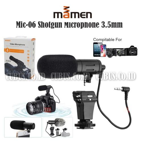 Foto Produk MAMEN Mic-06 Shotgun Microphone 3.5mm Vlog Smartphone,DSLR,Mirrolles dari Cubus_Co_ID