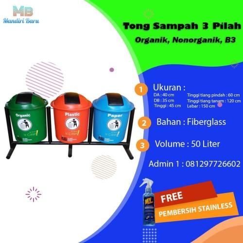 Foto Produk TS Fiber Organik Anorganik 50 liter 3 in 1 dari Mandiri Fiber
