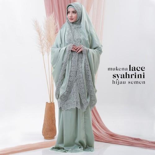 Foto Produk MUKENA DEWASA LACE SYAHRINI HIJAU SEMEN dari Pusat Mukena Indonesia