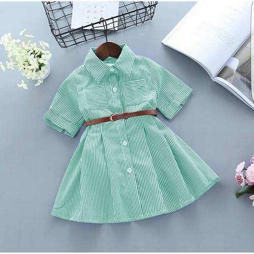 Foto Produk DRESS SINSIN / BAJU DRESS KATUN ANAK PEREMPUAN USIA 3 - 4 TAHUN - 3-4 tahun, Hijau Tosca dari BANANAKU OLSHOP