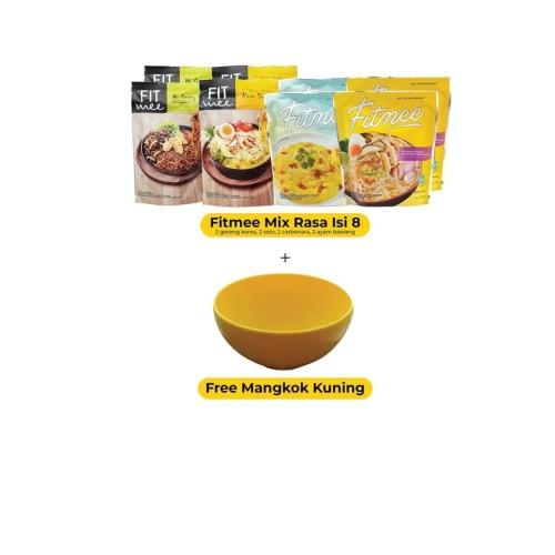 Foto Produk Fitmee Isi 8 Mix Rasa + Mangkuk Kuning dari FITMEE