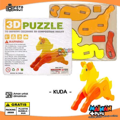 Foto Produk MAINAN EDUKASI EDUKATIF MONTESSORI KAYU - ANIMAL 3D PUZZLE - SNI - KUDA dari MainanPlus
