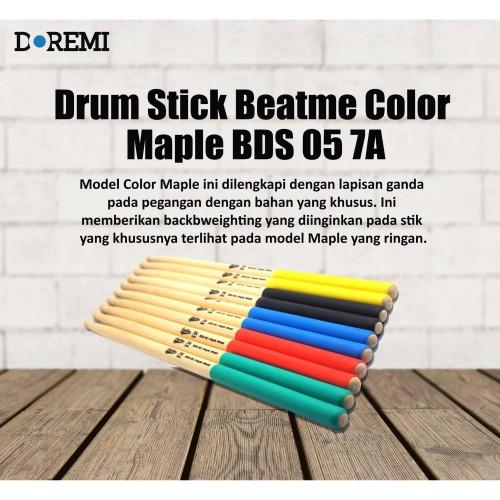 Foto Produk Drum Stick Beatme Color Maple BDS 05 7A - Stik Drum Maple Beatme - Kuning dari PT Doremi Music