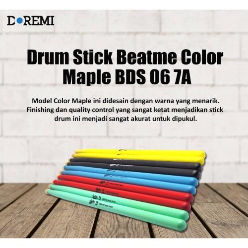 Foto Produk Drum Stick Beatme Color Maple BDS 06 7A - Stik Drum Maple Beatme - Hitam dari PT Doremi Music