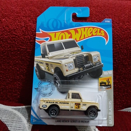 Foto Produk Hotwheels Land Rover Series III Pick Up hot wheels Lot F 2020 dari dejoss colection