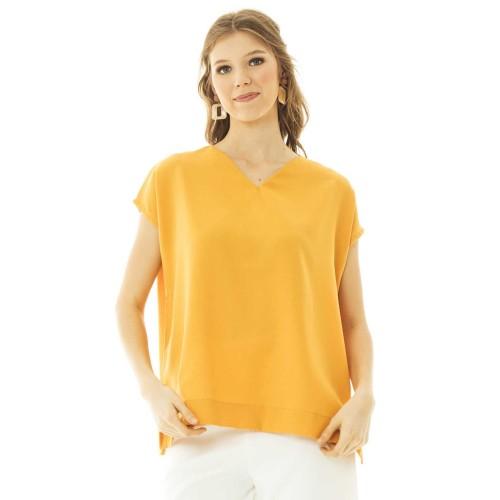 Foto Produk Vima Blouse in Mustard - Beatrice Clothing dari Beatrice Clothing