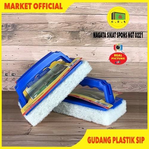 Foto Produk Sikat Spons // Tile Scrub Light Duty // Nagata NGT 0221 dari Gudang Plastik SIP