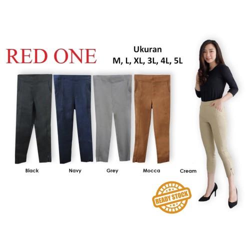 Foto Produk RED ONE Celana Panjang / Celana Kerja / Celana 7/8 Stretch Wanita - Cream, M dari New T2 Online