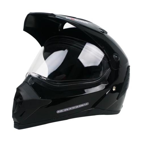 Foto Produk Cargloss Former Supermoto Helm Full Face - Deep Black - L dari Helm Cargloss