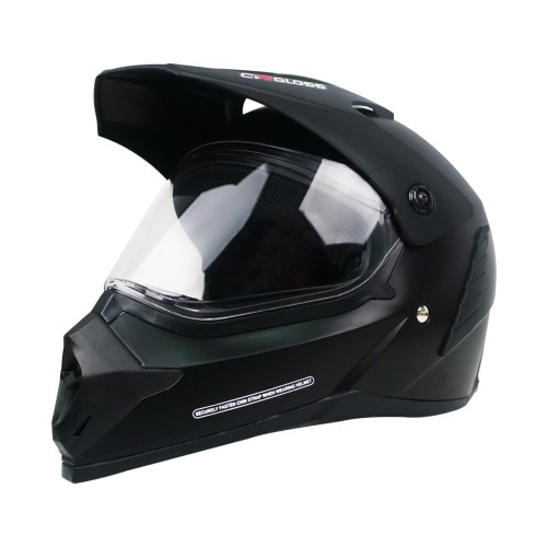 Foto Produk Cargloss Former Supermoto Helm Full Face - Deep Black SG DOFF - L dari Helm Cargloss