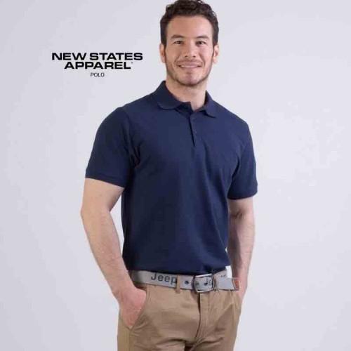 Foto Produk Kaos Kerah Polo New States Apparel NSA Premium Cotton 8100 S M L XL dari Profesor Sablon