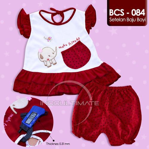 Foto Produk Baju Bayi Perempuan BCS-084 Setelan Dress Baru Lahir 1 Set Murah Lucu - Motif B dari indo ultimate