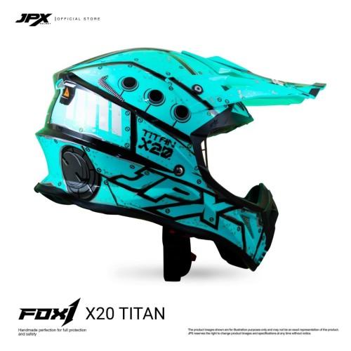 Foto Produk JPX Cross Full Face X20 Titan - Tosca Blue Gloss dari JPX Helmet