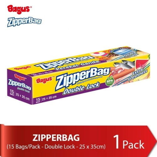 Foto Produk Bagus Double Lock Zipperbag 15's (25cm x 35cm) dari Baby Wise