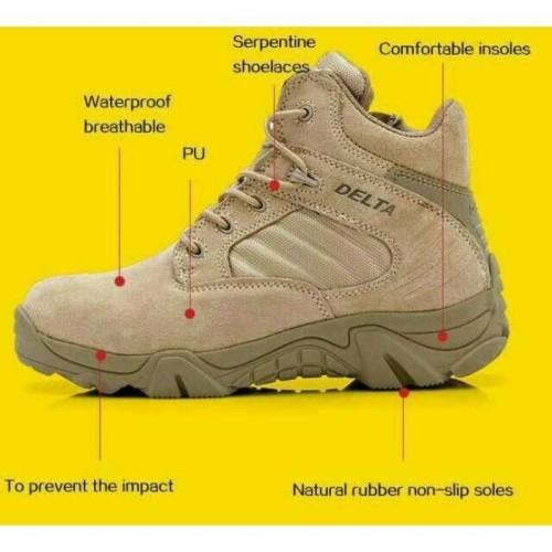 Foto Produk Sepatu boot safety pria Delta Low tactical 6.0 Touring Hiking Tracking - 39 dari ArbooStore