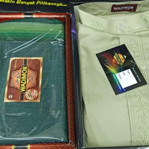 Foto Produk paket baju koko wadimor + sarung - Hijau, M dari mulya jaya tgr