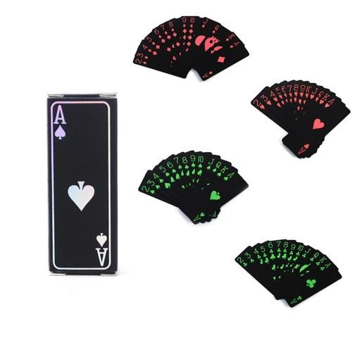 Foto Produk Kartu Remi Mini Black Travel Poker Anti Air Plastik Elastis Ringan 54 dari lbagstore