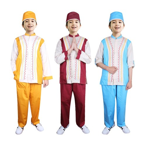 Foto Produk Baju Koko Anak Warna Fayrany FKW-013 Size 1 - 5 Tahun - Merah, 1-2 tahun dari Fayrany