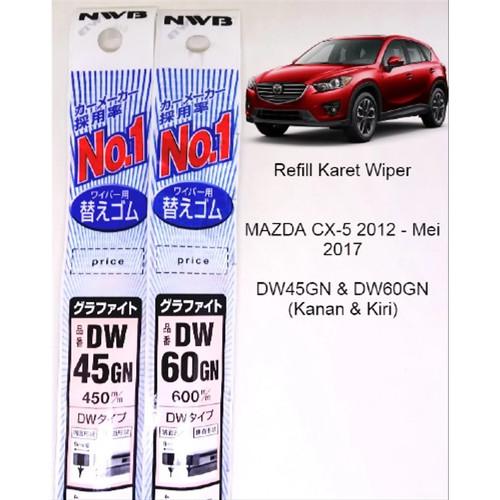 Foto Produk Refill Karet Wiper Mazda CX5 2012-2017 - NWB Japan DW45GN & DW60GN dari Auto Home